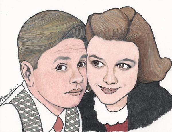 Judy Garland, Mickey Rooney by aaronmark